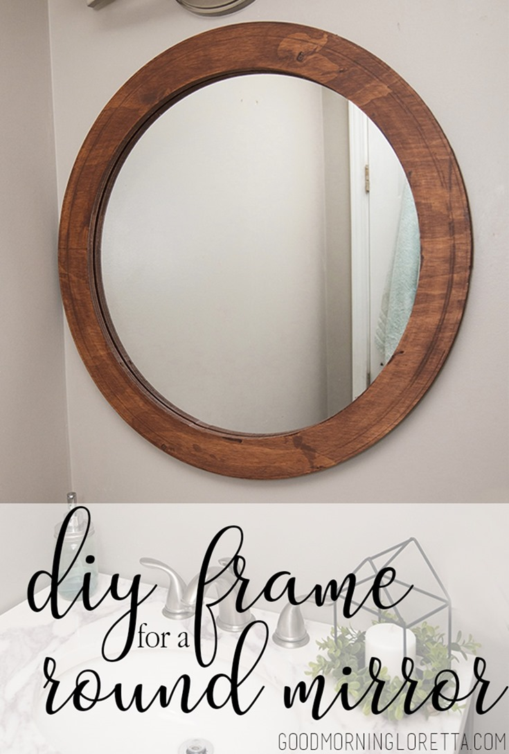 How To Frame A Round Mirror